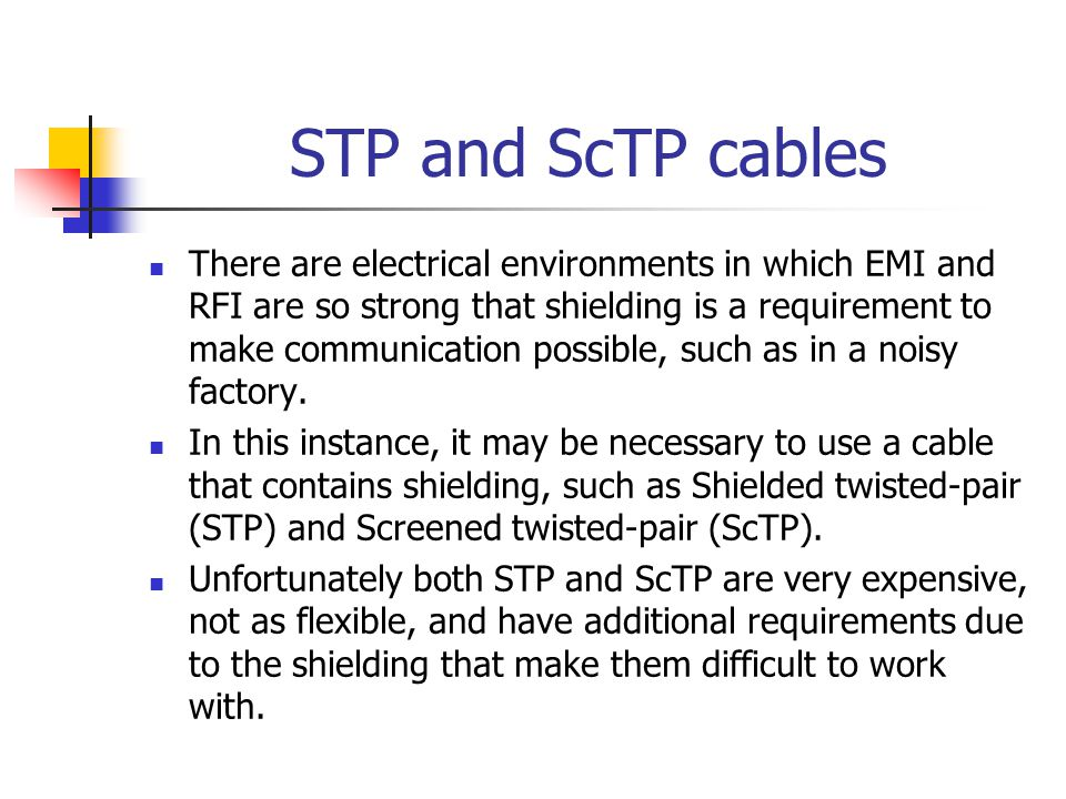 STP and ScTP cables