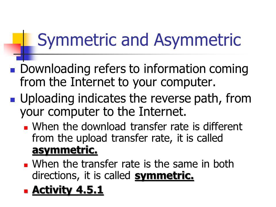 Symmetric and Asymmetric