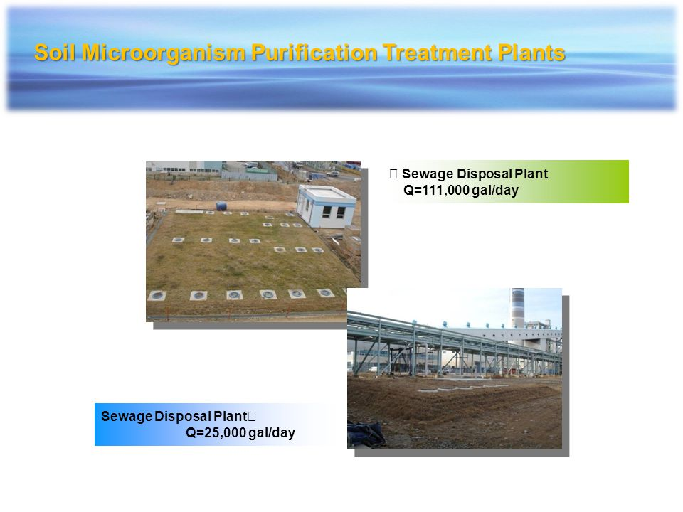 Soil Microorganism Purification Treatment Plants