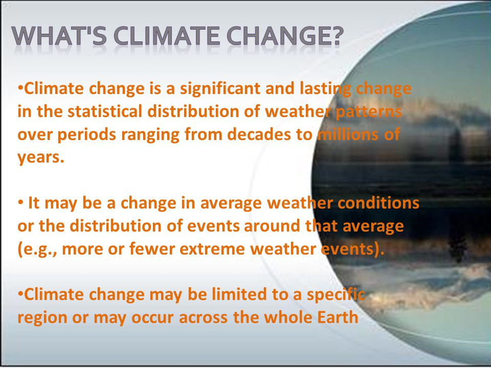 What s climate change