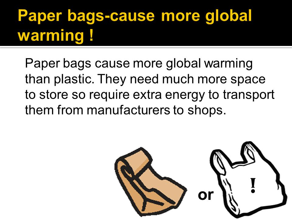 Paper bags-cause more global warming !