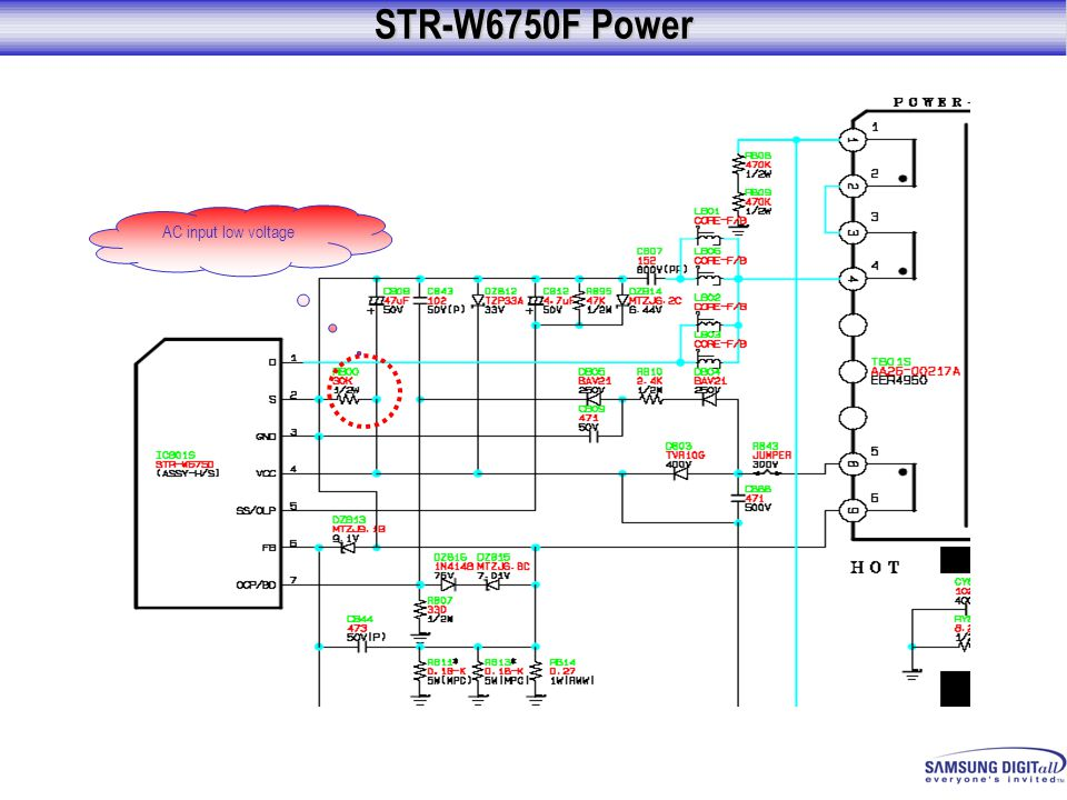 STR-W6750F Power AC input low voltage