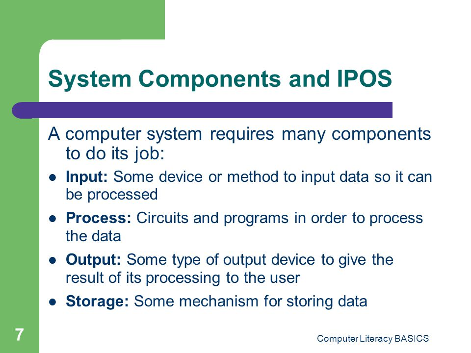 System Components and IPOS