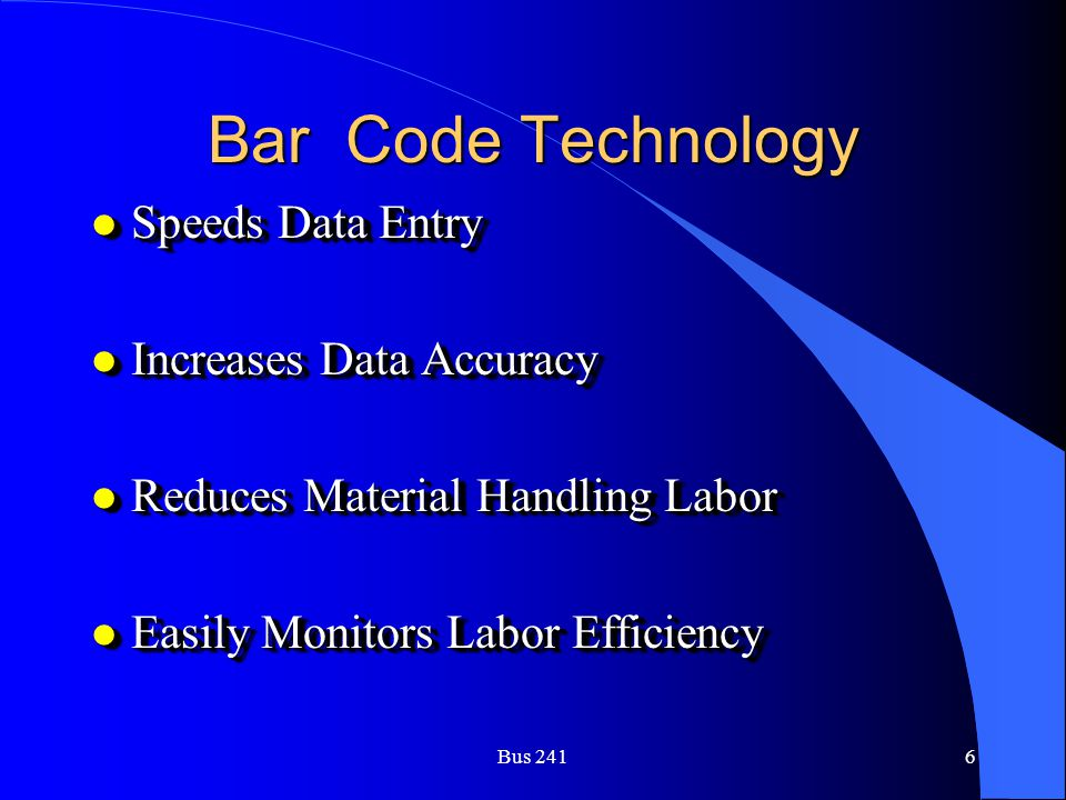 Bar Code Technology Speeds Data Entry Increases Data Accuracy