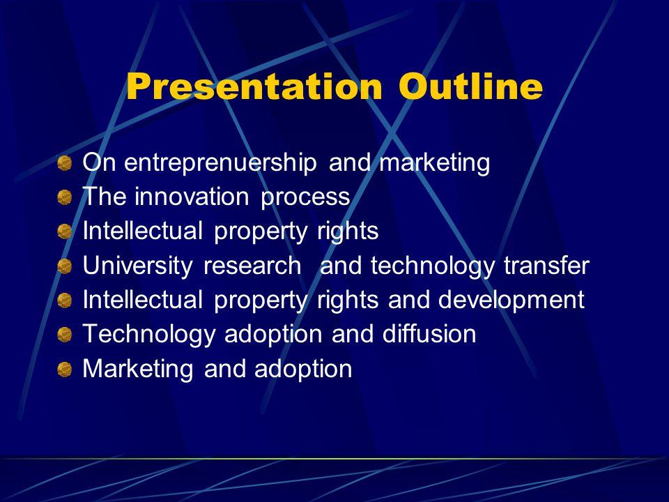 Presentation Outline On entreprenuership and marketing