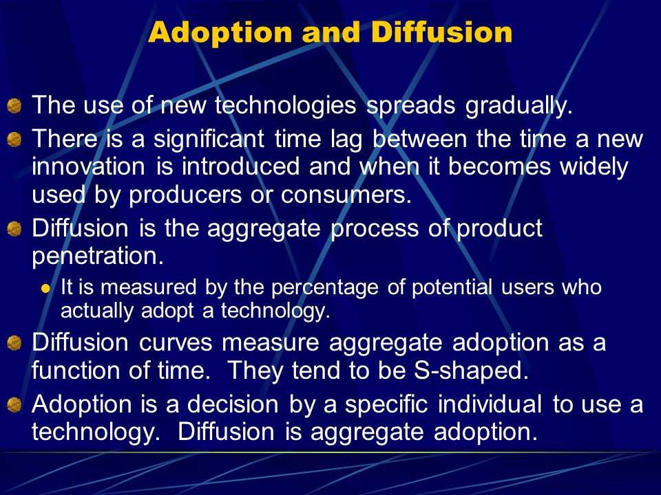 Technology adoption and diffusion essay