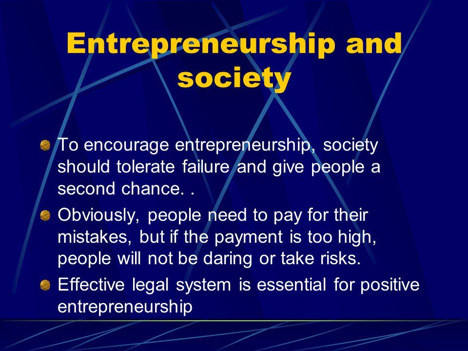 Entrepreneurship and society