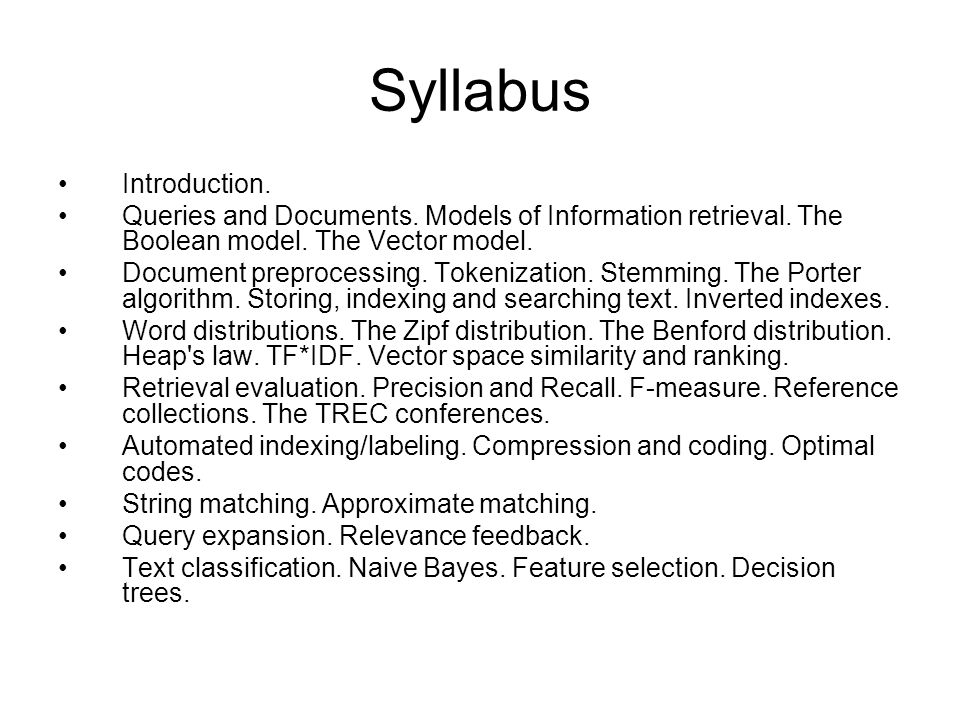 Syllabus Introduction.