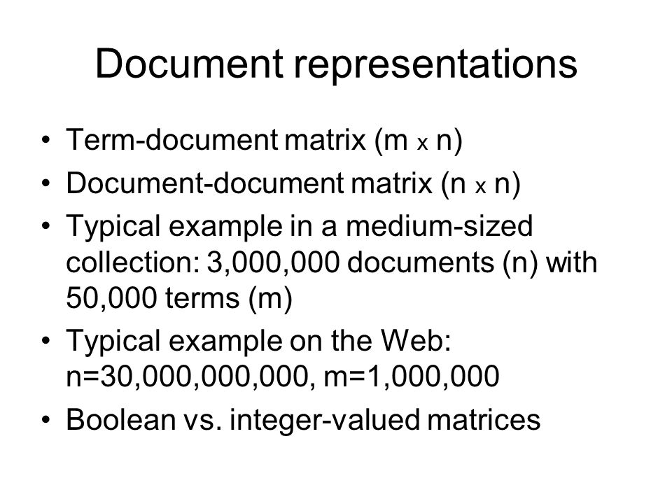 Document representations