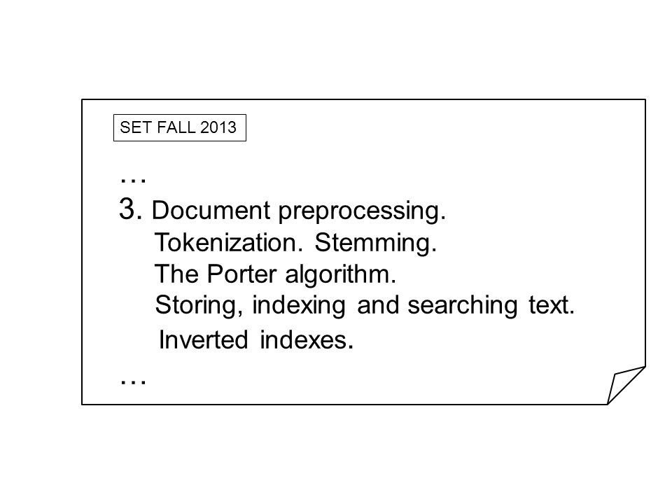 3. Document preprocessing.