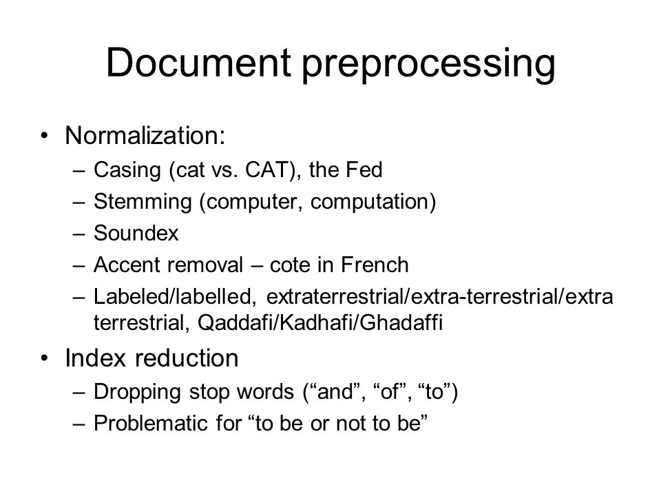Document preprocessing