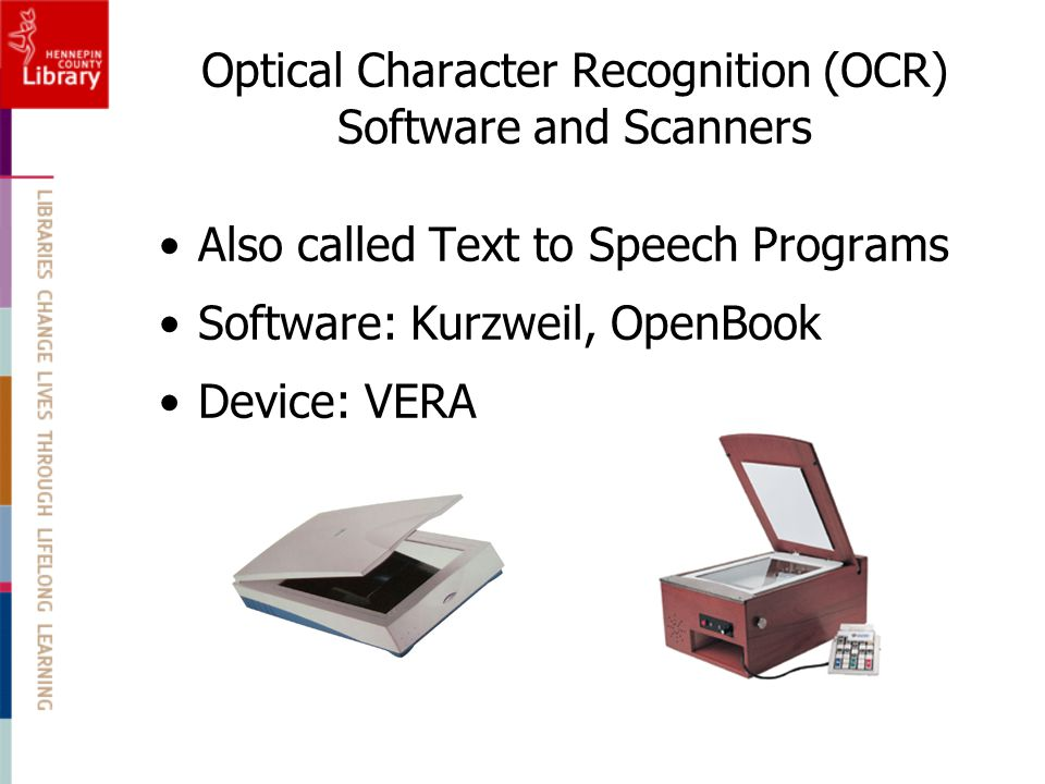 Optical Character Recognition (OCR) Software and Scanners