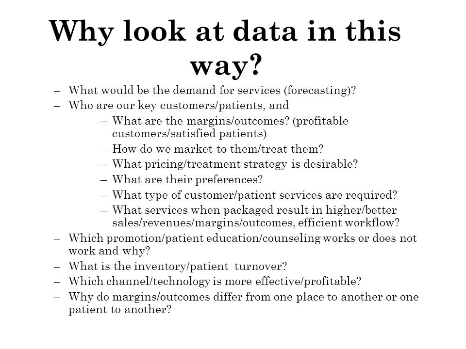 Why look at data in this way