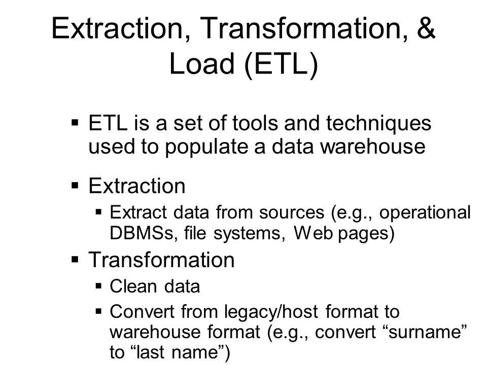 Extraction, Transformation, & Load (ETL)