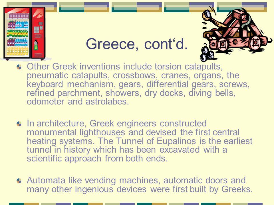 Greece, cont'd.