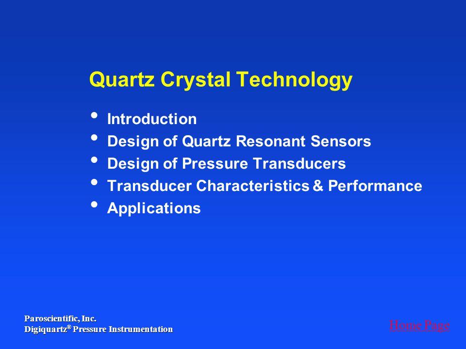 Quartz Crystal Technology