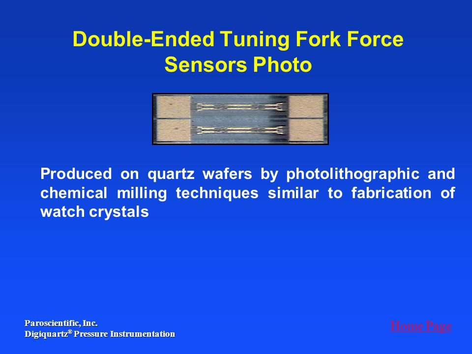Double-Ended Tuning Fork Force Sensors Photo