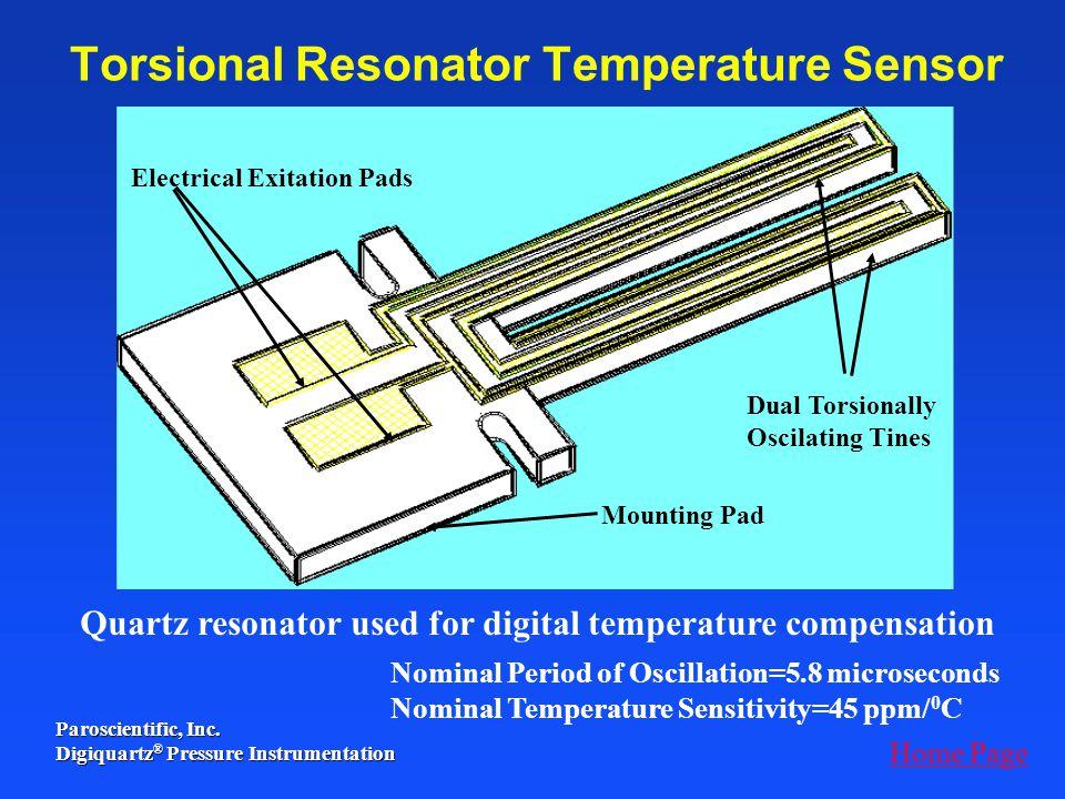 Torsional Resonator Temperature Sensor
