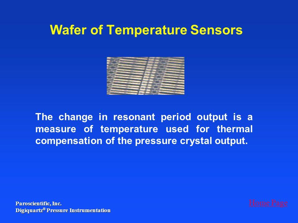 Wafer of Temperature Sensors