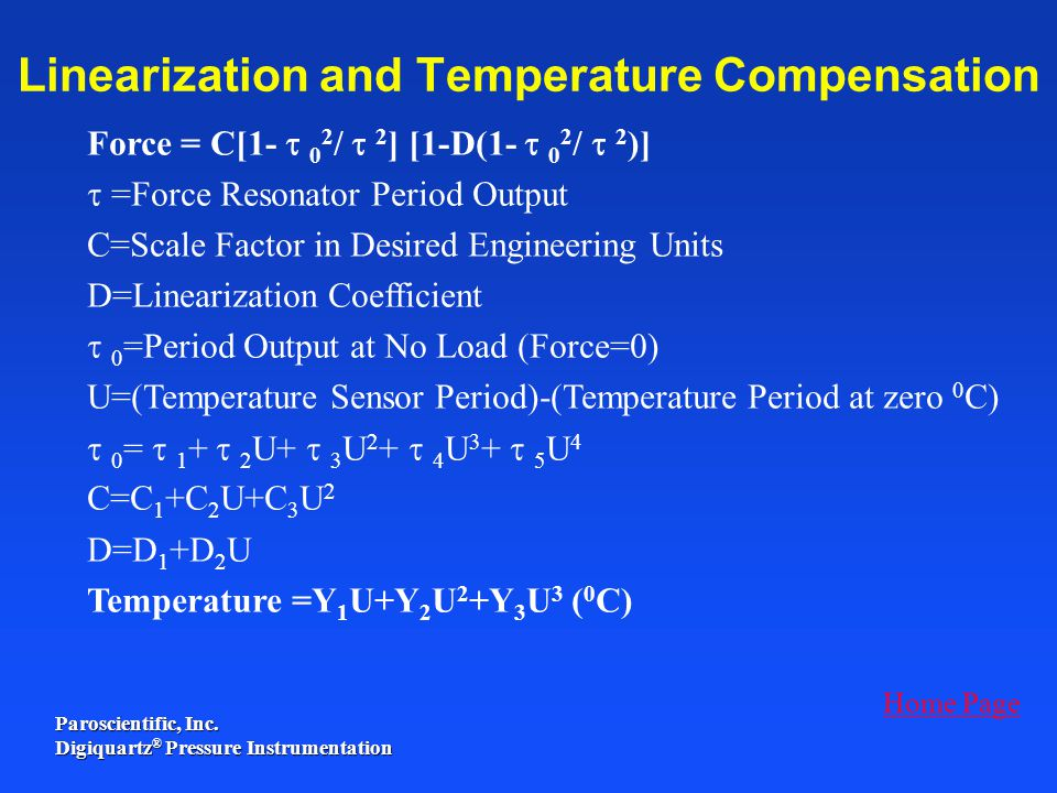 Linearization and Temperature Compensation
