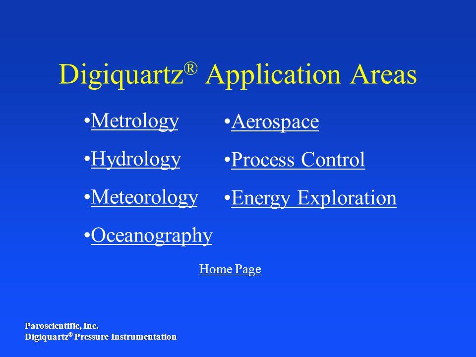 Digiquartz® Application Areas
