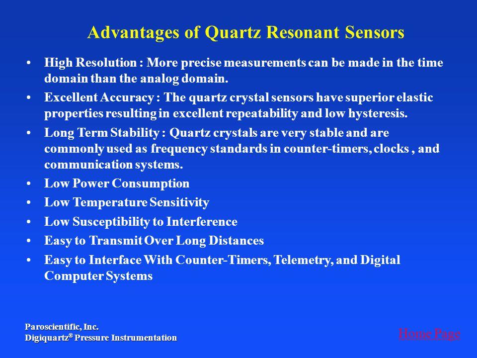 Advantages of Quartz Resonant Sensors
