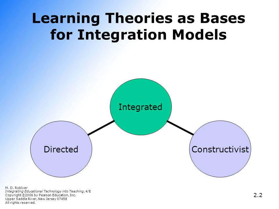 Learning Theories as Bases for Integration Models