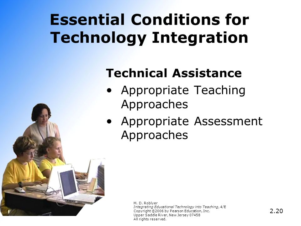 Essential Conditions for Technology Integration