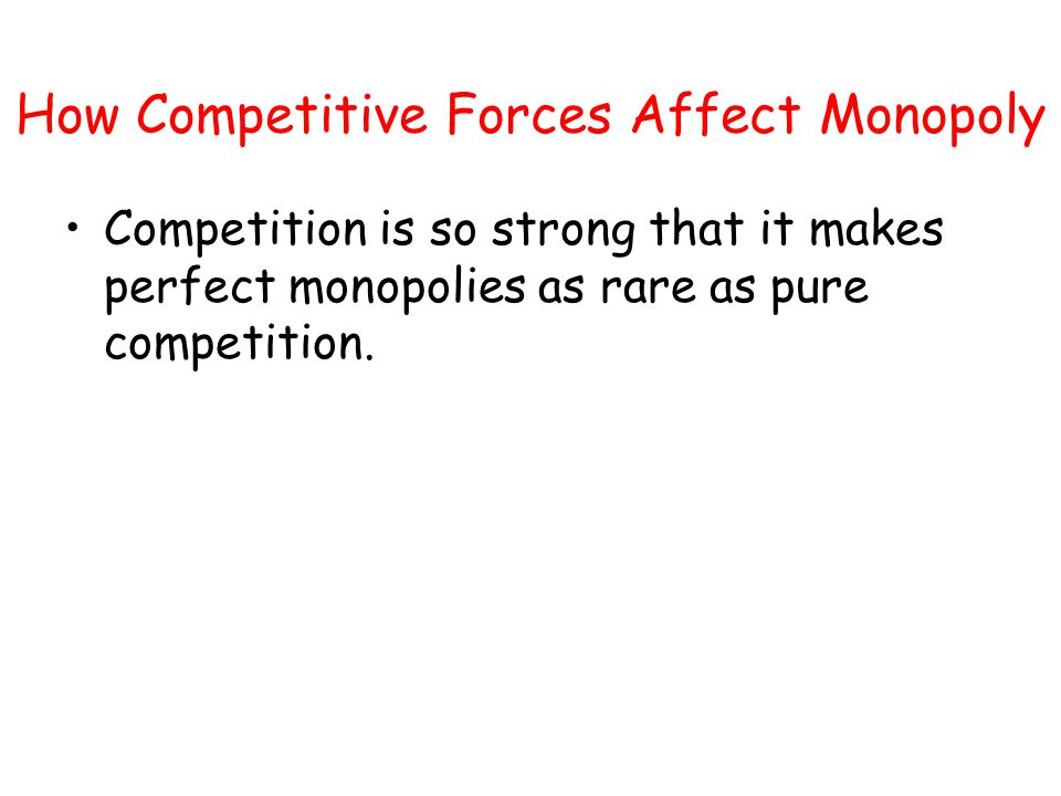 How Competitive Forces Affect Monopoly