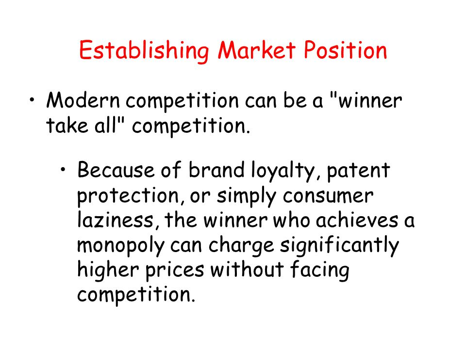 Establishing Market Position