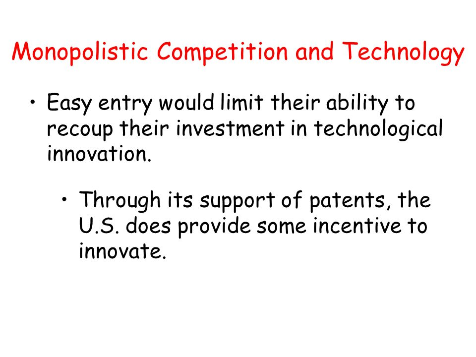 Monopolistic Competition and Technology