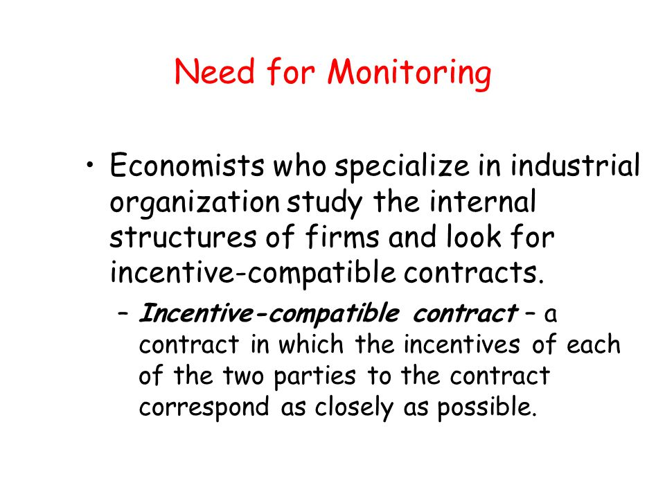 Need for Monitoring