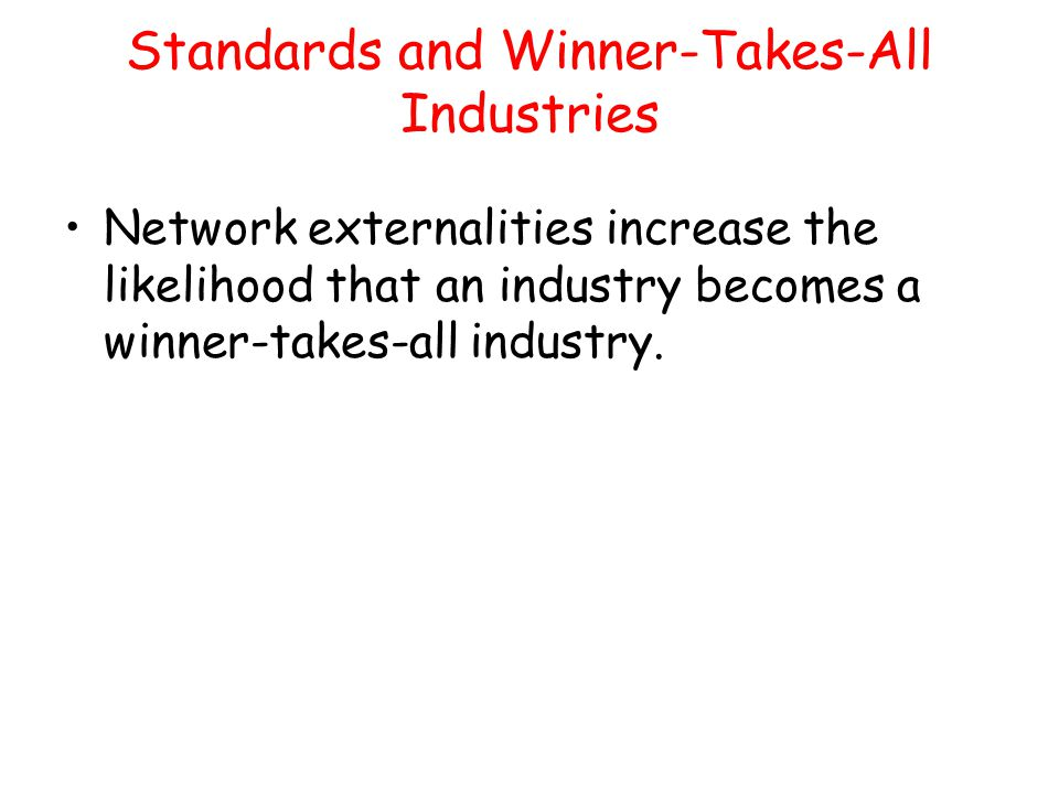 Standards and Winner-Takes-All Industries