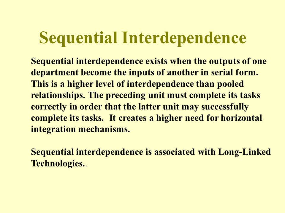 Sequential Interdependence