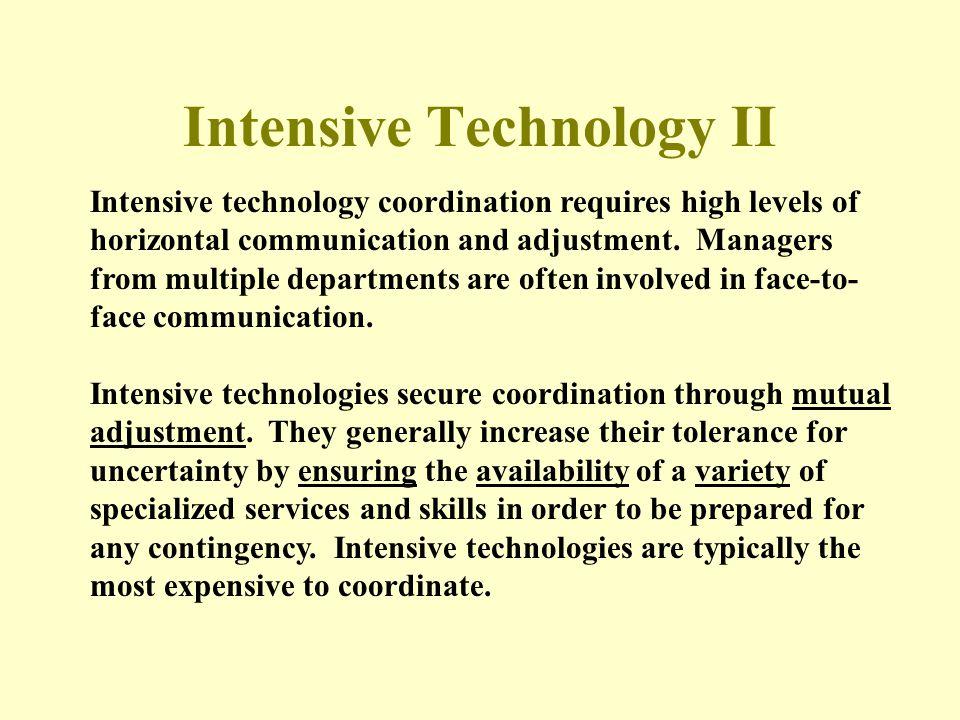 Intensive Technology II