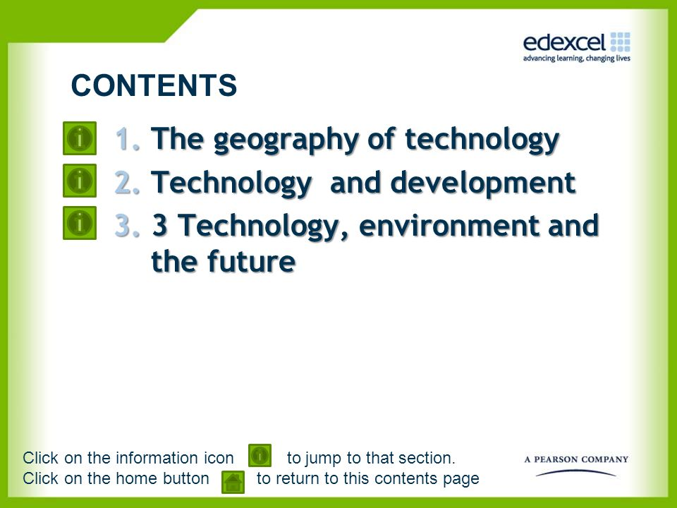 The geography of technology Technology and development