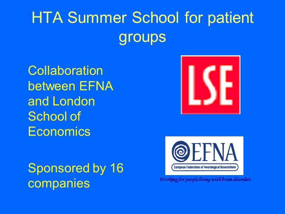 HTA Summer School for patient groups