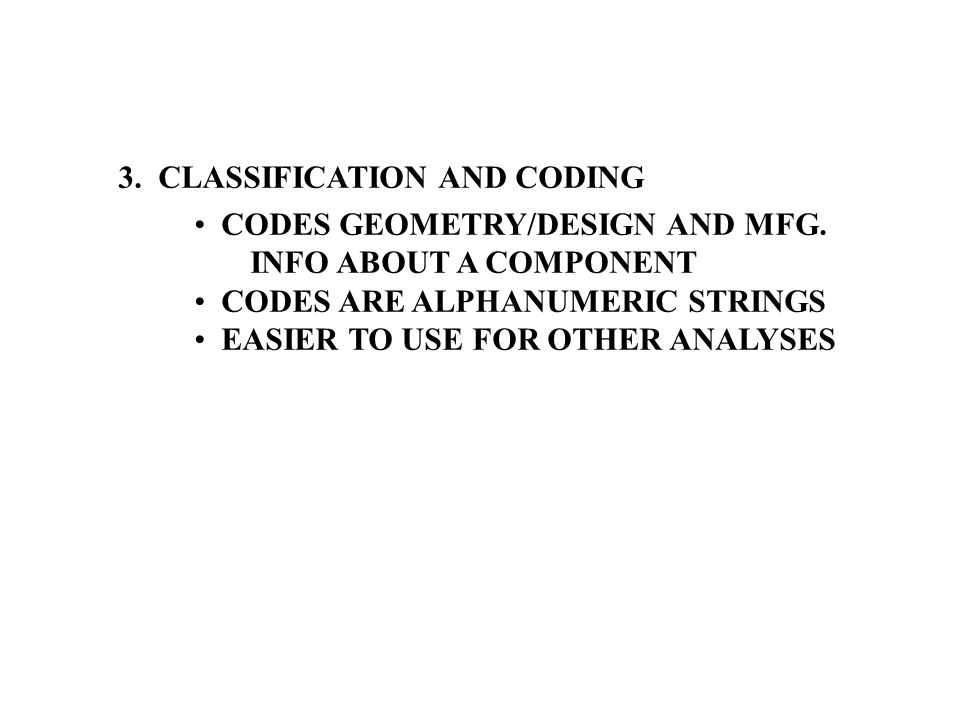 3. CLASSIFICATION AND CODING