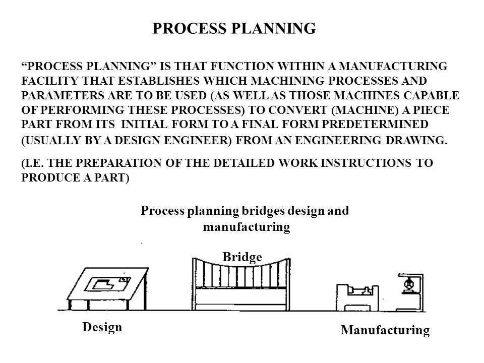 Process planning bridges design and