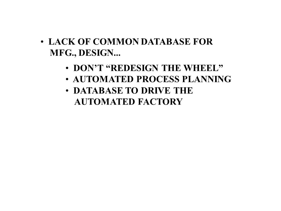 LACK OF COMMON DATABASE FOR