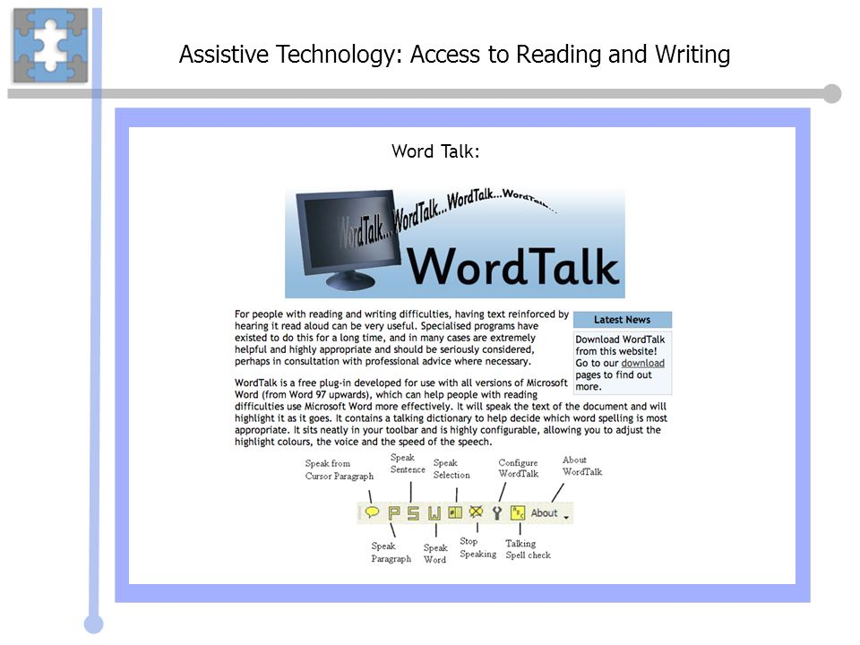 Assistive Technology: Access to Reading and Writing