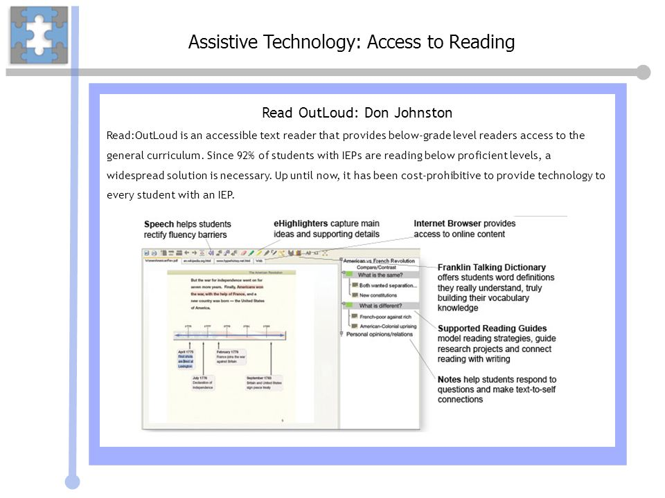 Assistive Technology: Access to Reading