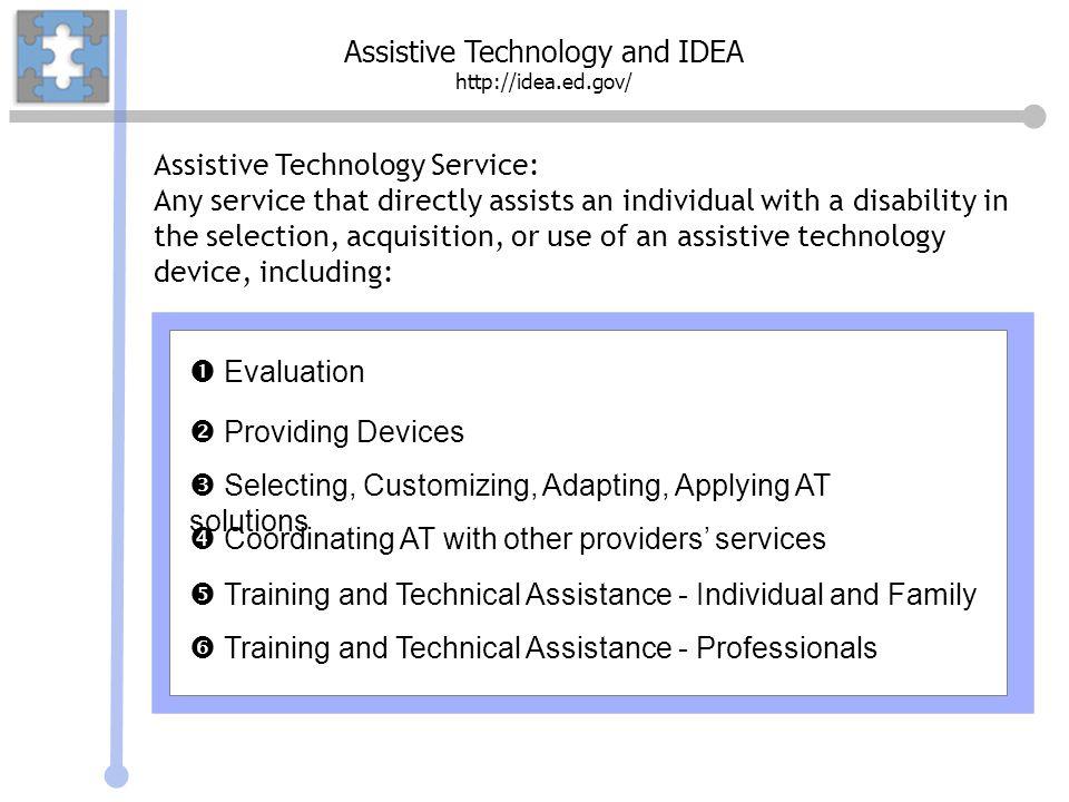Assistive Technology and IDEA http://idea.ed.gov/