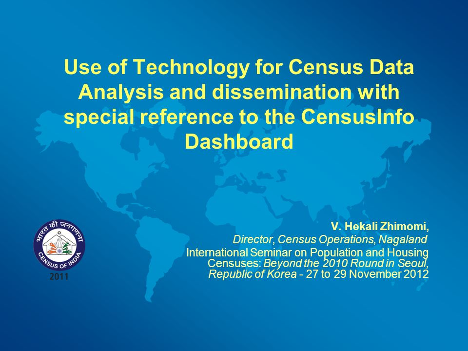 Use of Technology for Census Data Analysis and dissemination with special reference to the CensusInfo Dashboard