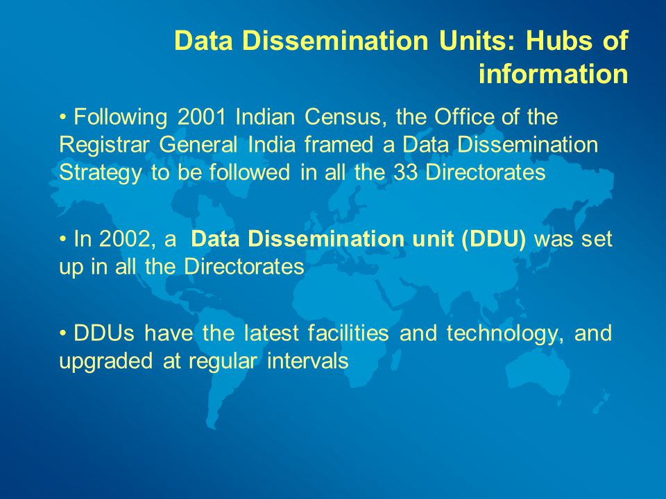 Data Dissemination Units: Hubs of information