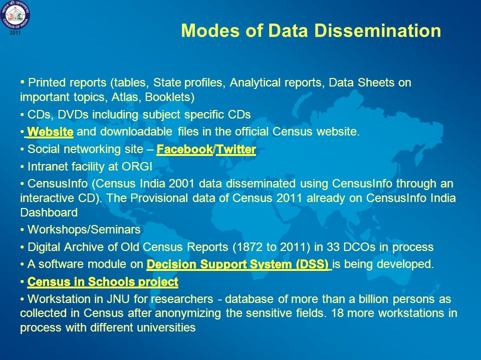 Modes of Data Dissemination