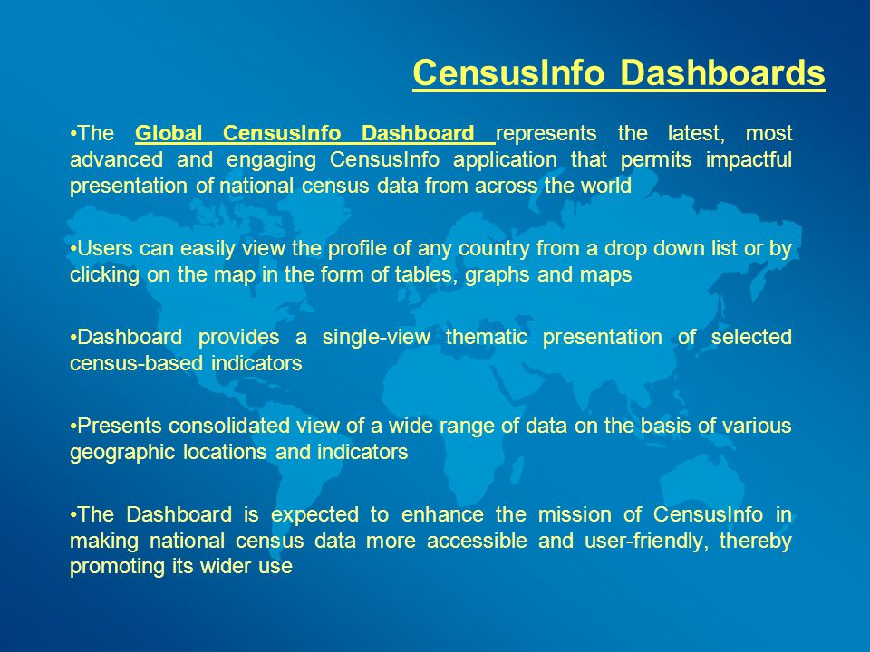 CensusInfo Dashboards