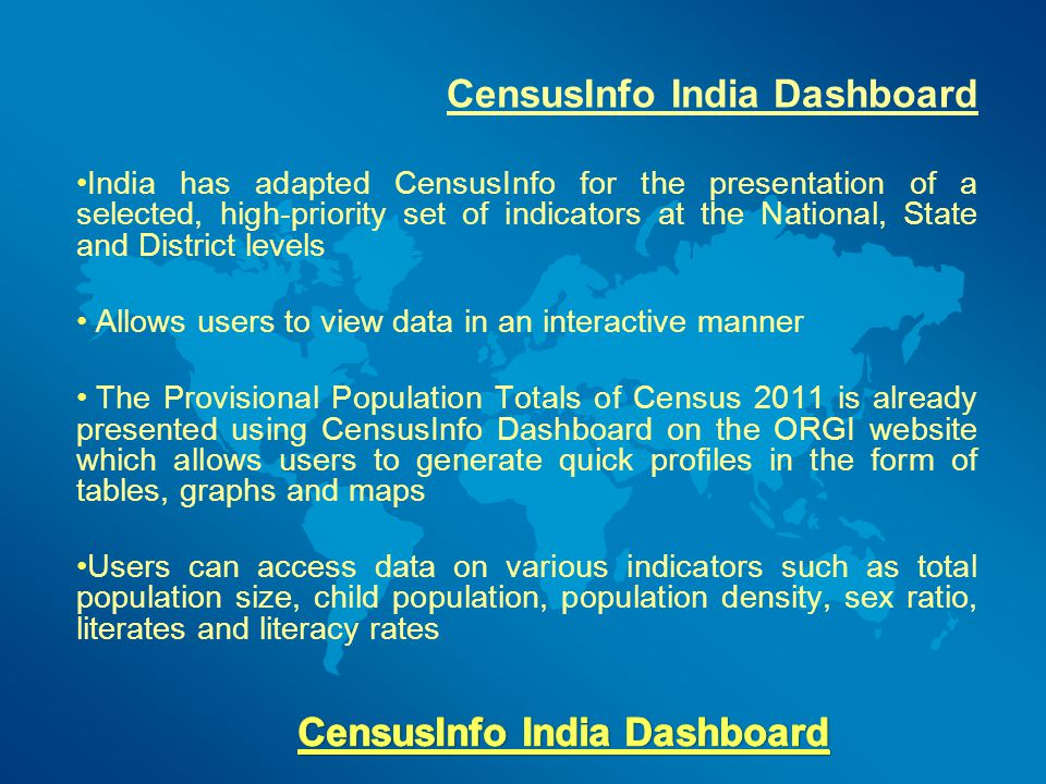 CensusInfo India Dashboard