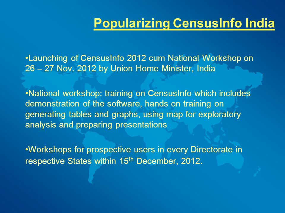 Popularizing CensusInfo India