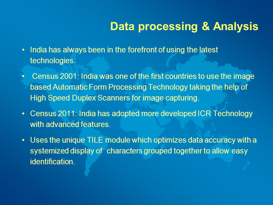 Data processing & Analysis